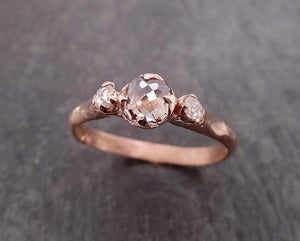 Champagne Fancy cut Diamond Engagement 14k Rose Gold Multi stone Wedding byAngeline 2002