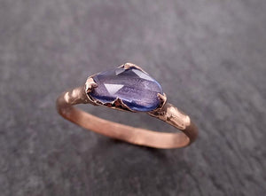 Fancy cut Lavender Sapphire 14k Rose gold Solitaire Ring Gemstone Engagement Ring 2013