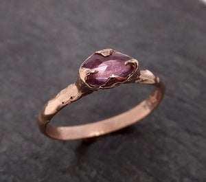 Fancy cut Pink Sapphire 14k Rose gold Solitaire Ring Gold Gemstone Engagement Ring 2011