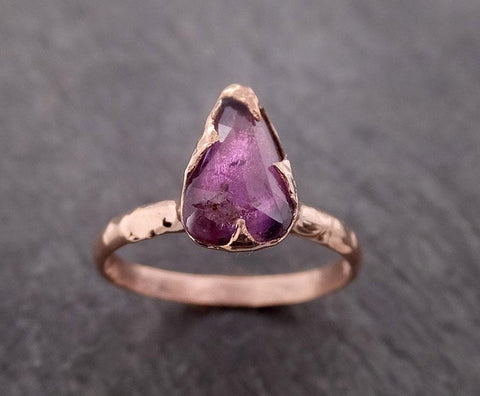 Fancy cut pink Sapphire 14k Rose gold Solitaire Ring Gold Gemstone Engagement Ring 2018