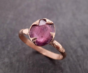 Fancy cut pink Sapphire 14k Rose gold Solitaire Ring Gold Gemstone Engagement Ring 2016