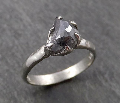 Raw Diamond Engagement Ring Rough Uncut Diamond Solitaire Recycled 14k gold Conflict Free Diamond Wedding Promise byAngeline 0428