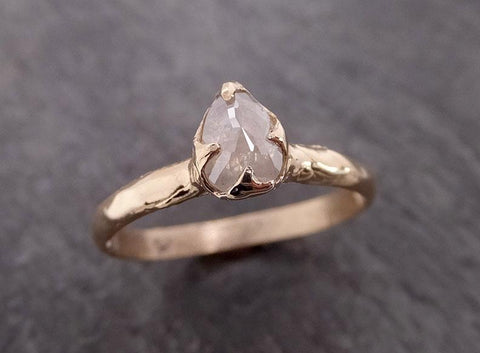 Fancy cut white Diamond Solitaire Engagement yellow Gold Wedding Ring byAngeline 2027
