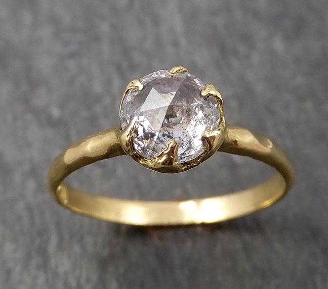 Fancy cut White Diamond Solitaire Engagement 18k yellow Gold Wedding Ring Diamond Ring byAngeline 1647