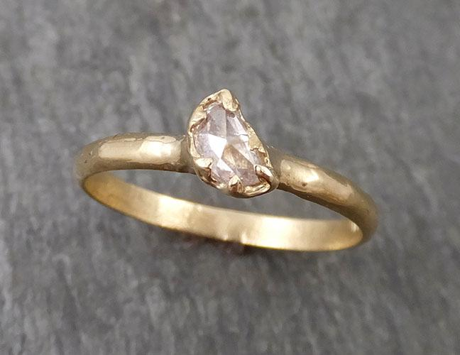 Fancy Cut Half Moon Diamond Solitaire Engagement 14k Gold Wedding Ring byAngeline 1692