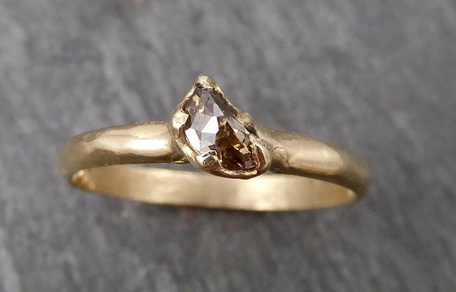 Fancy Cut Half Moon Diamond Solitaire Engagement 14k Gold Wedding Ring byAngeline 1691