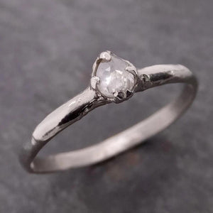 Fancy cut White Diamond Solitaire Engagement 14k White Gold Wedding Ring byAngeline 2070