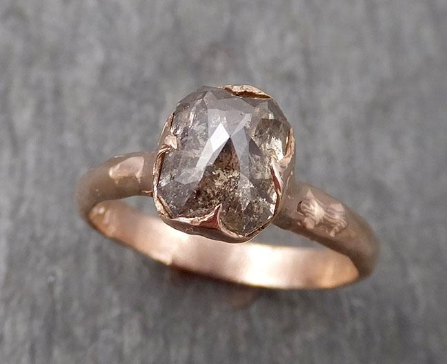 18k Raw Rough Diamond gold Engagement Multi stone Three Ring Rough Gold Wedding Ring diamond Wedding Ring Rough Diamond Ring byAngeline 0511