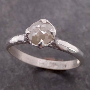 Fancy cut White Diamond Solitaire Sterling Silver Ring byAngeline SS00030