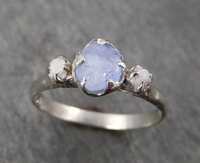 Multi Diamond White Gold Engagement Ring Wedding Band One Of a Kind