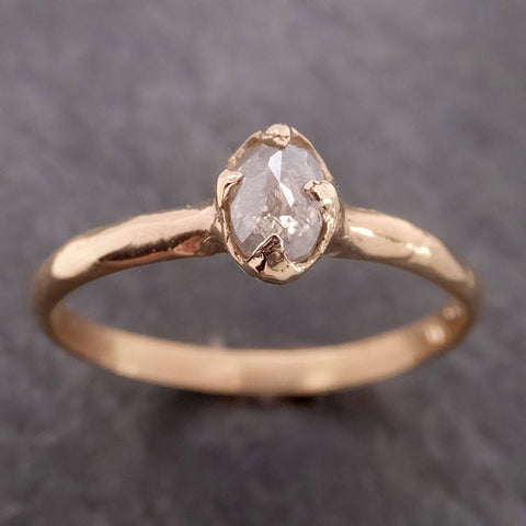 Fancy cut Dainty white Diamond Solitaire Engagement 14k yellow Gold Wedding Ring byAngeline 2124