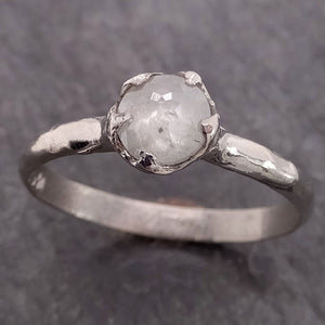 Fancy cut White Diamond Solitaire Engagement 14k White Gold Wedding Ring Diamond Ring byAngeline 2135