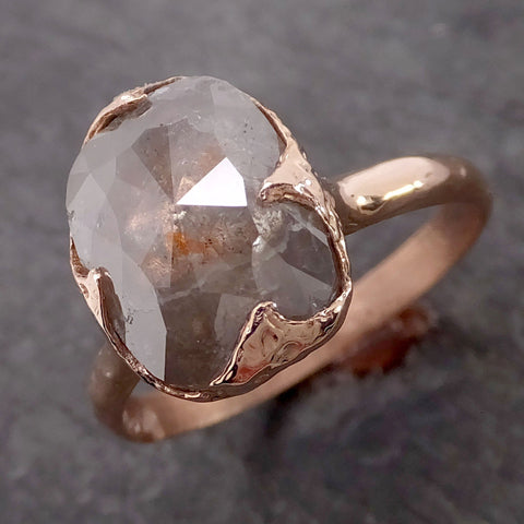 Fancy cut Diamond Solitaire Engagement Rose Gold Wedding Ring Diamond Ring byAngeline 2137