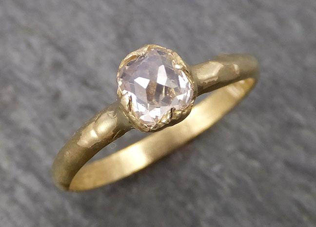 Fancy cut white Diamond Solitaire Engagement 18k yellow Gold Wedding Ring byAngeline 1797