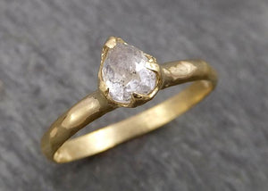 Fancy cut White Diamond Solitaire Engagement 18k yellow Gold Wedding Ring Diamond Ring byAngeline 1793