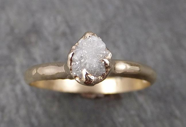 Dainty Raw Diamond Engagement Ring Rough Uncut Diamond Solitaire Recycled 14k gold Conflict Free Diamond Wedding Promise 1813
