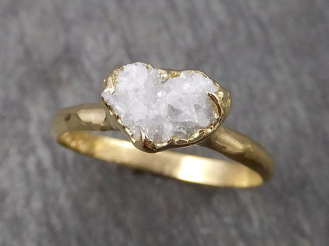18k Raw Diamond Solitaire Engagement Rough Gold Wedding Ring diamond Wedding Ring Rough Diamond Ring 1838