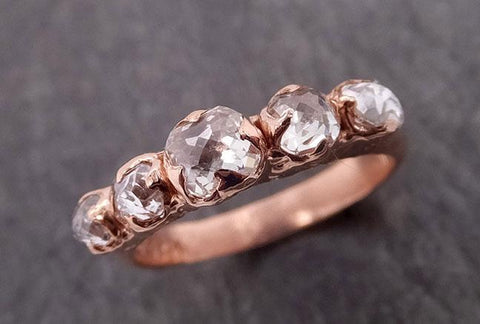 Fancy cut Contour Diamond Wedding Band Rose Gold Diamond Wedding Ring byAngeline 1855