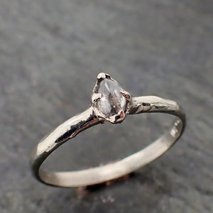 Fancy cut White Diamond Solitaire Engagement 14k White Gold Wedding Ring Diamond Ring byAngeline 2182