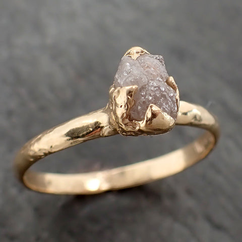 Raw Diamond Engagement Ring Rough Uncut Diamond Solitaire Recycled 14k yellow gold Conflict Free Diamond Wedding Promise 2167