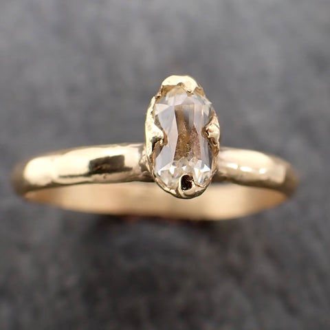 Fancy cut White Diamond Solitaire Engagement 18k yellow Gold Wedding Ring Diamond Ring byAngeline 2164