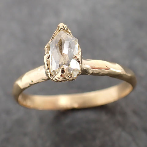 Fancy cut White Diamond Solitaire Engagement 18k yellow Gold Wedding Ring Diamond Ring byAngeline 2165