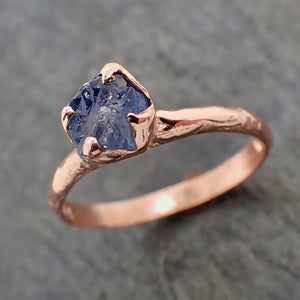 Raw Purple Sapphire Rose Gold Engagement Ring Wedding Ring Custom One Of a Kind Gemstone Ring Solitaire Ring byAngeline 2233