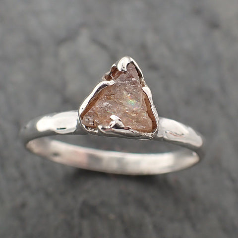 Rough Pink Sapphire Sterling Silver Ring Gemstone Solitaire recycled cocktail statement SS00075