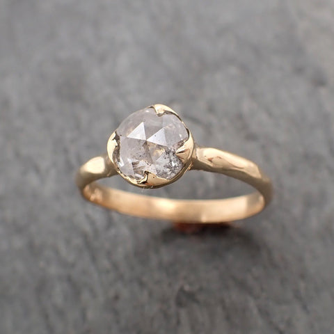 Fancy cut White Diamond Solitaire Engagement 18k yellow Gold Wedding Ring Diamond Ring byAngeline 2302