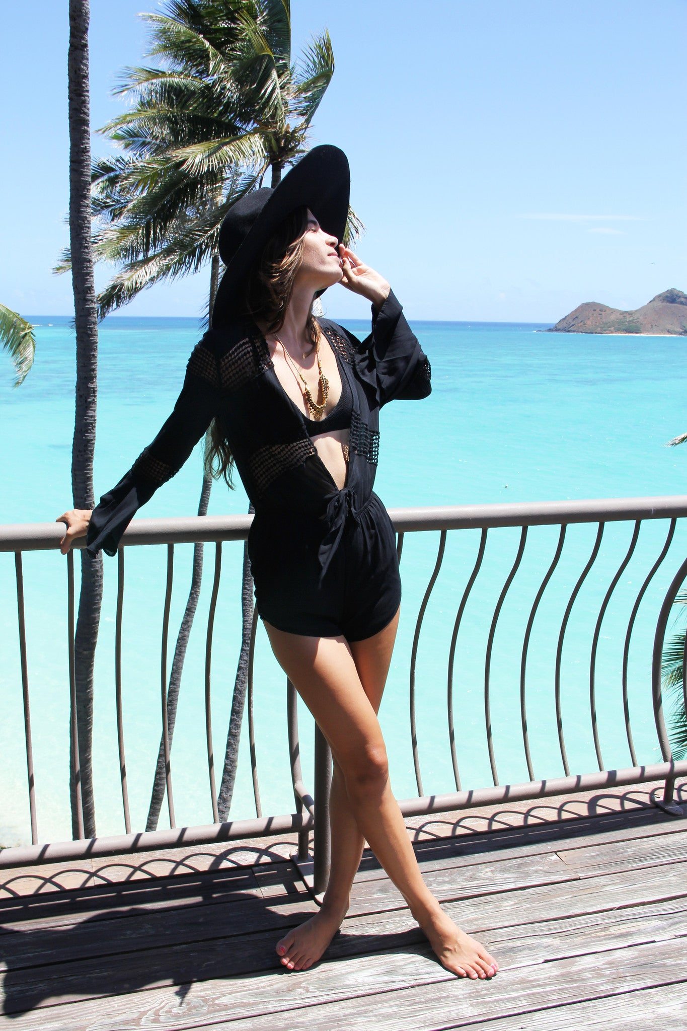 The Waikiki Romper in Black Sand || Palme The Label
