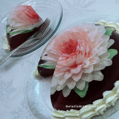 Large Gelatin Art Flower Cake