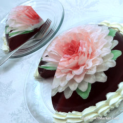 Large Flower Gelatin Art Cake