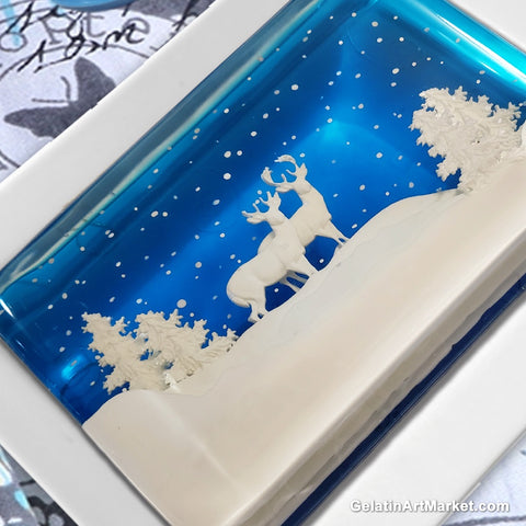 Blue Christmas Gelatin Art