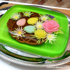 Gelatin Art Easter Nest