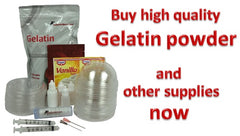 Supplies for Gelatin Art