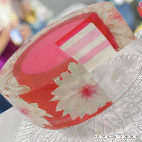 How To Make Round Gelatin Art Cakes Gelatin Art Market