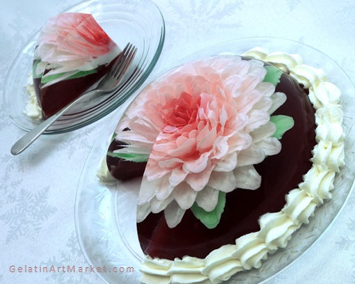 Gelatin Art Flower Cake Decorating