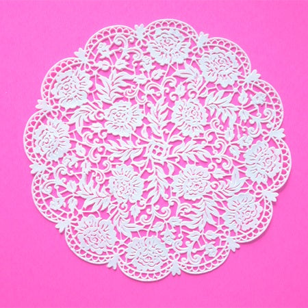 Round Edible Lace