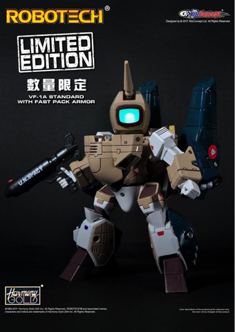 Super Deformed Brown VF-1A WITH FASTPACK!