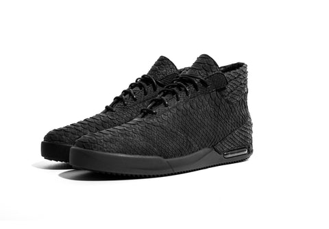 John Geiger, Black Mens Hightop Shoes, Python mens footwear