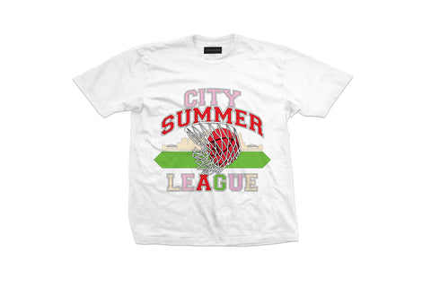 White 'City Summer League' Short Sleeve T-Shirt