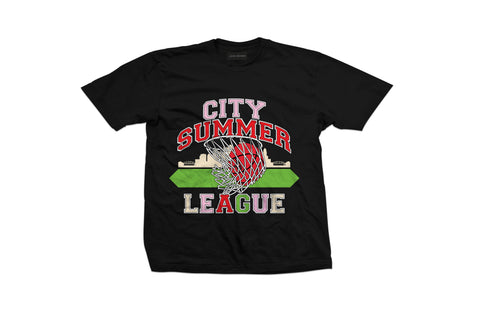 Black 'City Summer League' Short Sleeve T-Shirt