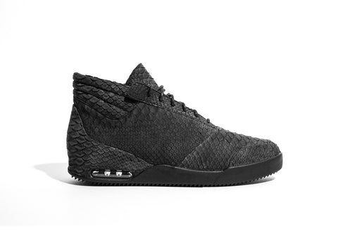 001 by John Geiger Genuine Sueded Python Black/Black