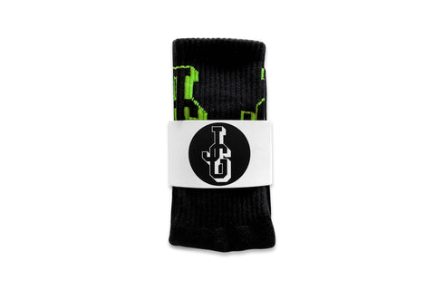 JG Logo Socks Black/Lime