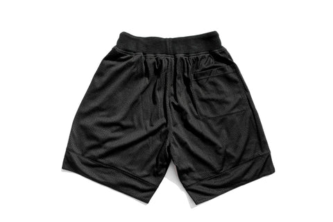 Chenille Patch Mesh Basketball Shorts 'Black/Yellow'