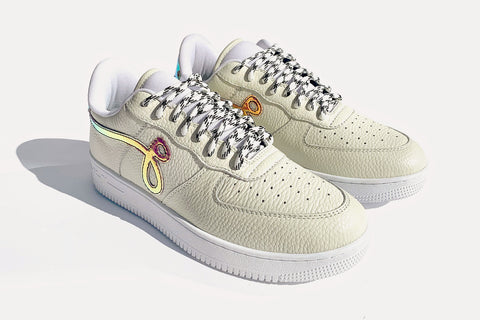 "GF-01 By John Geiger ""Off White Pebbled Leather"""