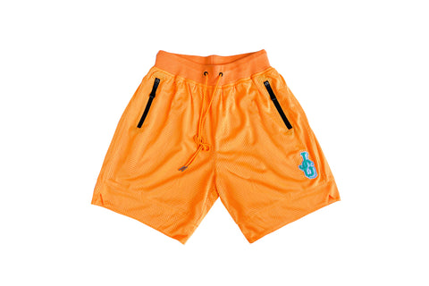 JG Chenille Patch Mesh Basketball Shorts 'Orange/Teal'