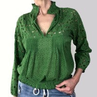 INZAGI Broderie Blouse
