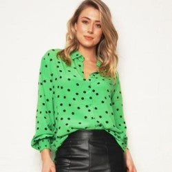 We Are The Others Polka Dot Relaxed Shirt