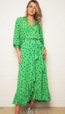 We Are The Others Polka Dot Shirt and Wrap Skirt